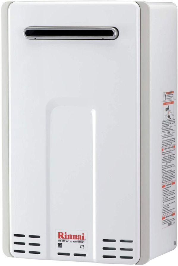Rinnai V75EN Outdoor Natural Gas Tankless Hot Water Heater