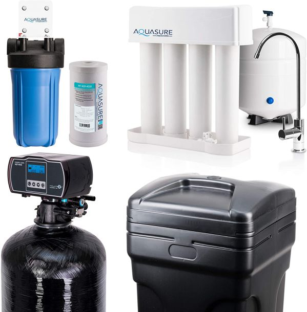Aquasure Whole House Water Filtration Bundle with Water Softener