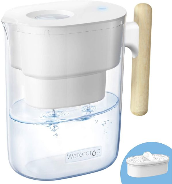 Waterdrop WD-PT-04W 10-Cup Water Filter Pitcher